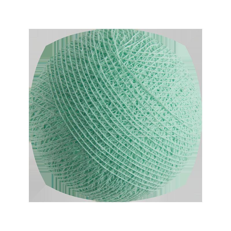 Boule tissée pour guirlande Outdoor vert d'eau - Boules Tissées Outdoor - La Case de Cousin Paul