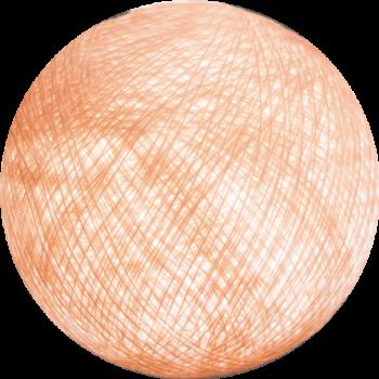 Boule tissée pour guirlande Outdoor rose poudré - Boules Tissées Outdoor - La Case de Cousin Paul