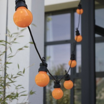 extension LED guinguette Mandarine, en situation