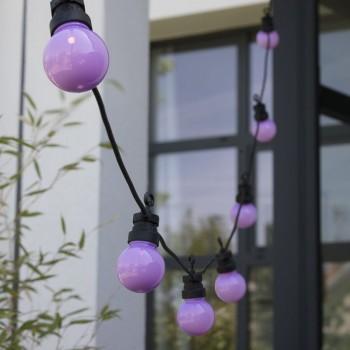extension guirlande LED guinguette, en situation