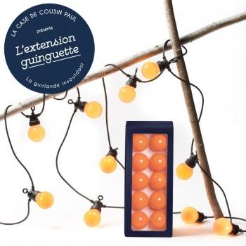 extension guirlande LED guinguette Mandarine