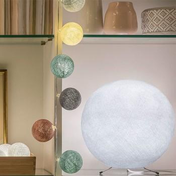 Globe blanc XS allumé