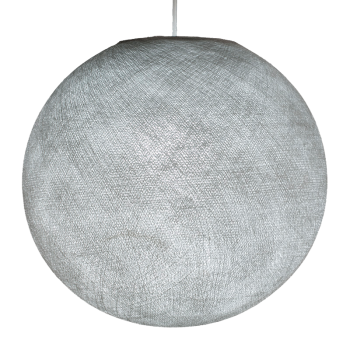 Globe gris perle allumé