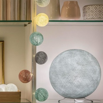 Globe gris perle XS allumé