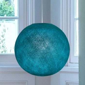 Globe turquoise allumé