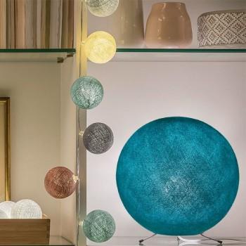 Globe turquoise - Abat-jour globe - La Case de Cousin Paul