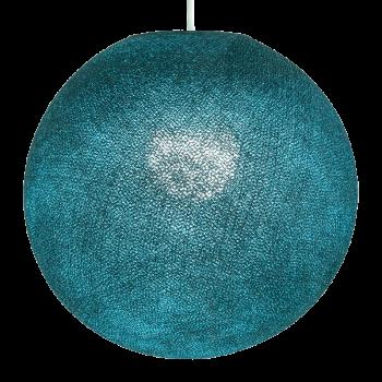 Globe bleu canard allumé