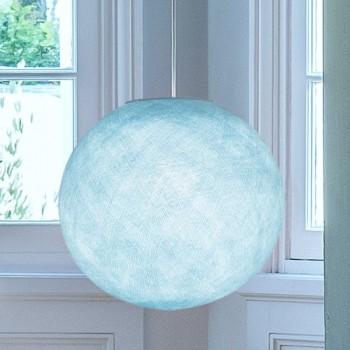Globe bleu ciel - Abat-jour globe - La Case de Cousin Paul