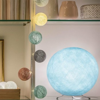sky blue - Lampshades globe - La Case de Cousin Paul