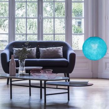 Aqua - Lampshades globe - La Case de Cousin Paul