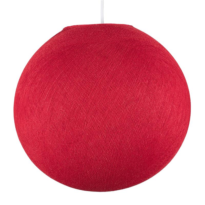 Globe rouge - Abat-jour globe - La Case de Cousin Paul