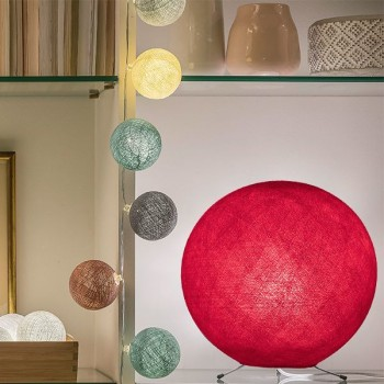 red - Lampshades globe - La Case de Cousin Paul