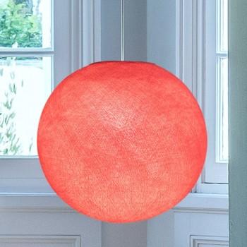 Globe rose bonbon allumé