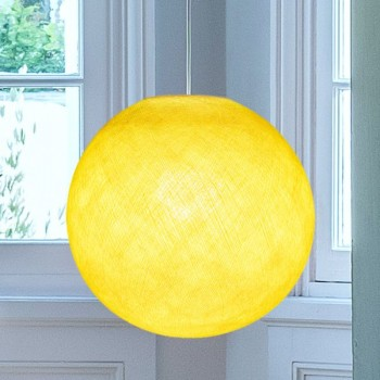 Globe jaune - Abat-jour globe - La Case de Cousin Paul