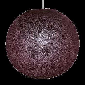 Globe aubergine allumé