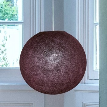 aubergine - Lampenschirm globus - La Case de Cousin Paul