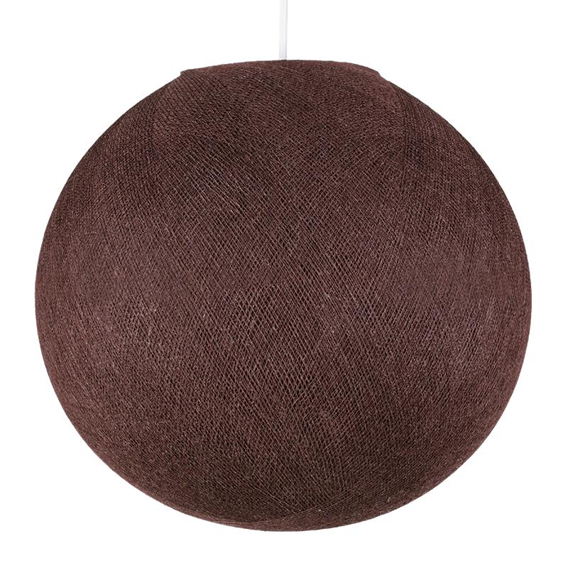 Globe chocolat - Abat-jour globe - La Case de Cousin Paul
