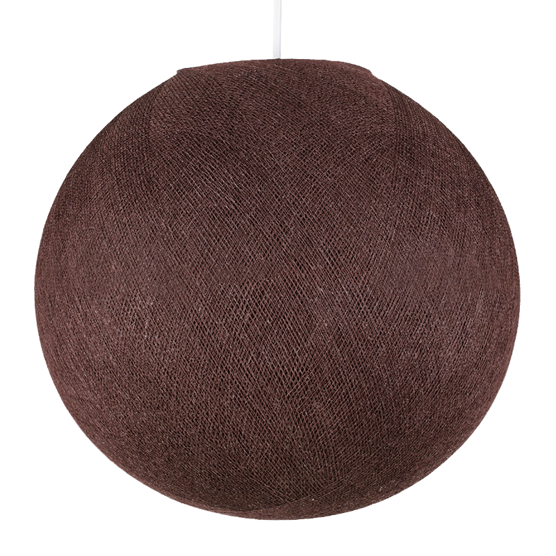 chocolate - Lampshades globe - La Case de Cousin Paul