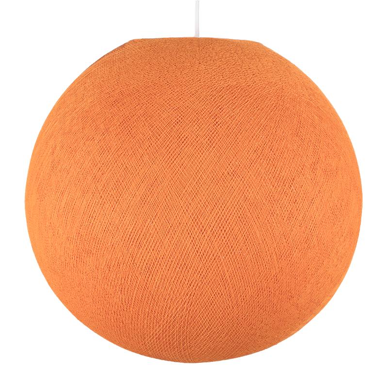 Abat jour globe orange éteint