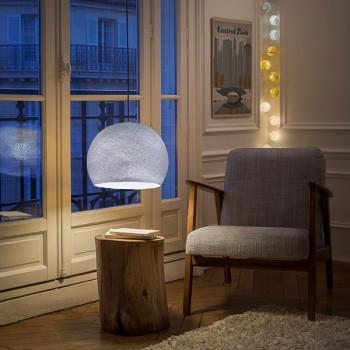 Lampenschirme Einzeln Kuppeln Lila Grau - Lampenschirm kuppeln - La Case de Cousin Paul