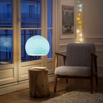 Lampenschirme Einzeln Kuppeln Himmelblau - Lampenschirm kuppeln - La Case de Cousin Paul