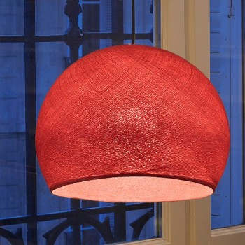 vermillon - Lampshades cupolas - La Case de Cousin Paul