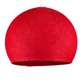 red - Lampshades cupolas - La Case de Cousin Paul