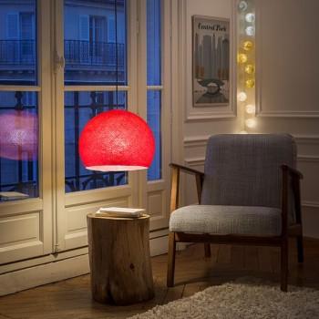 Lampenschirme Einzeln Kuppeln Rot - Lampenschirm Kuppel  - La Case de Cousin Paul