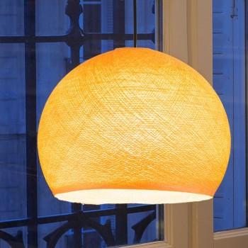 Coupole orange clair - Abat-jour coupole - La Case de Cousin Paul