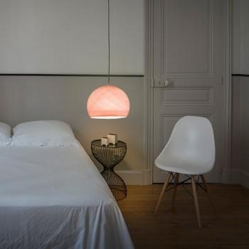 Lampenschirme Einzeln Kuppeln Puderrosa - Lampenschirm Kuppel  - La Case de Cousin Paul