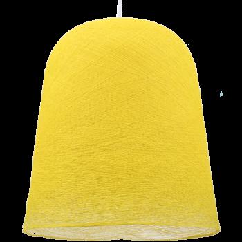 abat-jour jupe jaune éteint