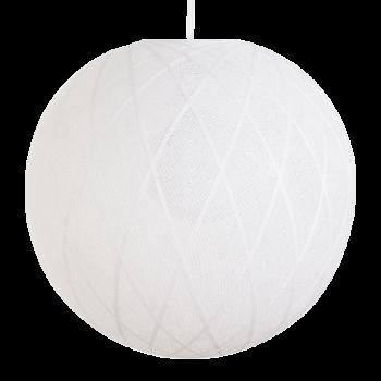 Globe Art déco blanc - Abat-jour Art Déco - La Case de Cousin Paul