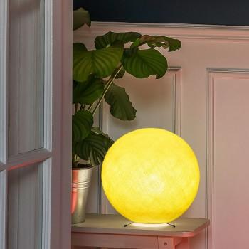 Base per una sfera S giallo -  Lampada da tavolo - La Case de Cousin Paul