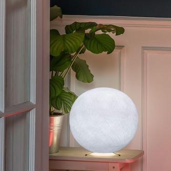 Piétement globe S blanc - Lampe à poser - La Case de Cousin Paul