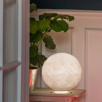 Base linen ball S - Table Lamp - La Case de Cousin Paul