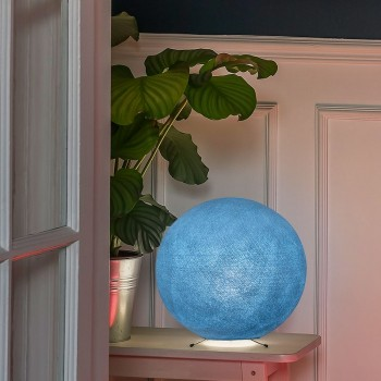 Lampe à poser globe S denim - Lampes à poser - La Case de Cousin Paul