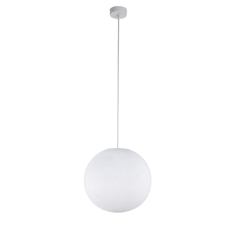 Suspension simple globe M blanc - Suspension simple - La Case de Cousin Paul