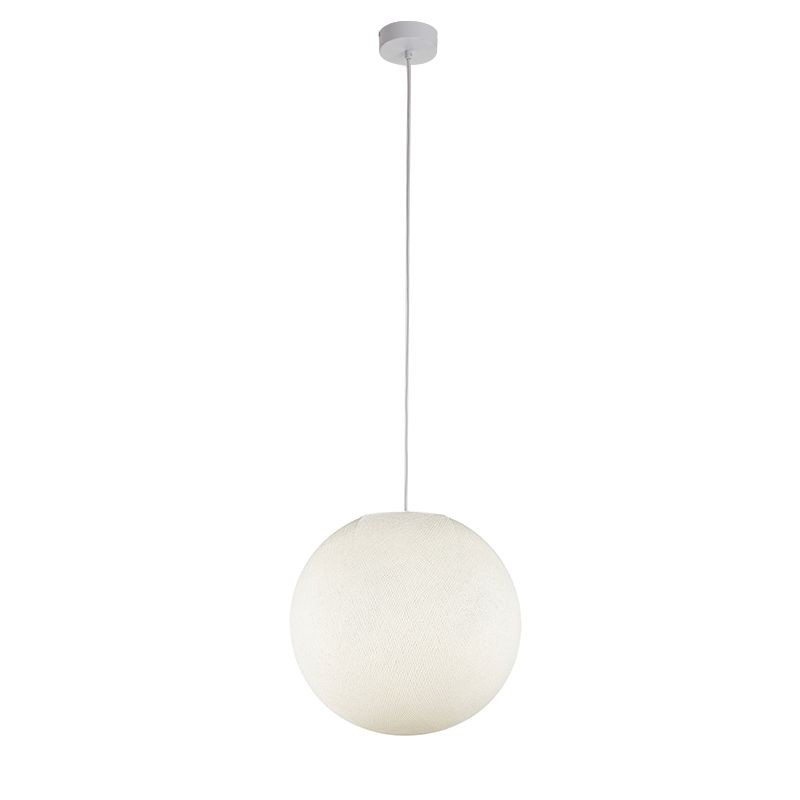Suspension simple globe M ivoire - Suspension simple - La Case de Cousin Paul