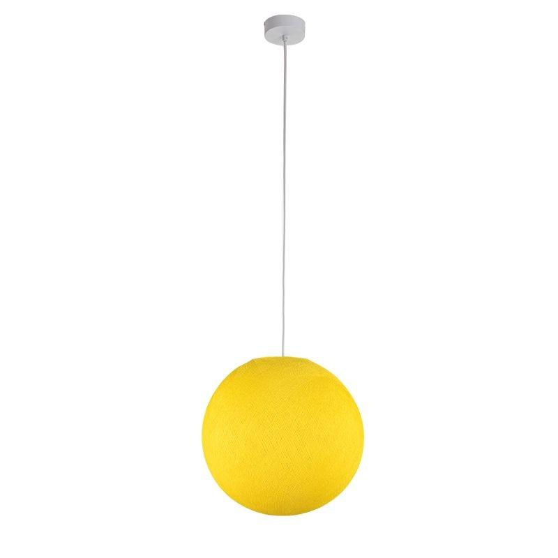 Einfache Aufhängung Kugel gelb - Hängelampe einstrahlig - La Case de Cousin Paul