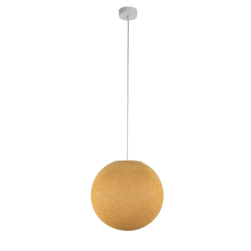 Suspension simple globe M moutarde - Suspension simple - La Case de Cousin Paul