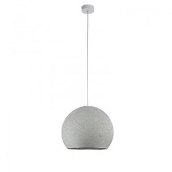 Einfache Aufhängung Kuppel perlgrau - Hängelampe einstrahlig - La Case de Cousin Paul