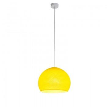 Einfache Aufhängung Kuppel gelb - Hängelampe einstrahlig - La Case de Cousin Paul