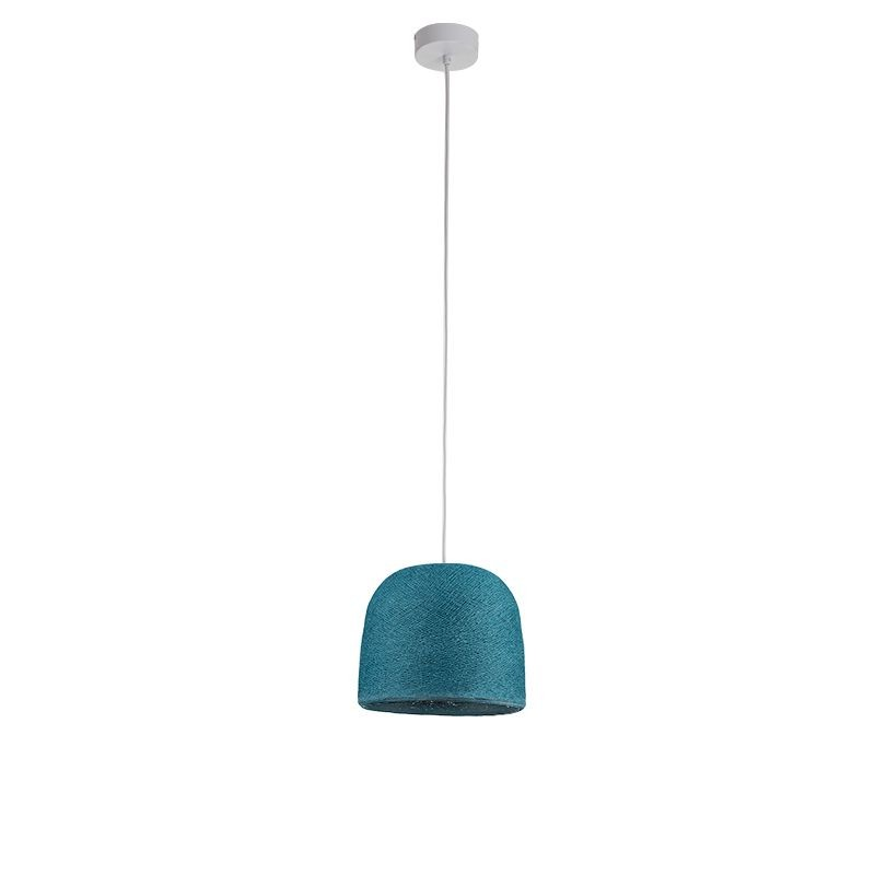 Suspension simple Cloche bleu canard - Suspension simple - La Case de Cousin Paul