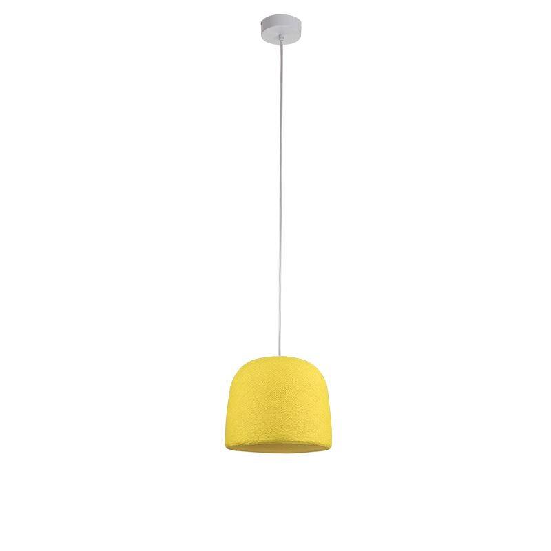Einfache Aufhängung Cloche gelb - Einfache Hängelampe - La Case de Cousin Paul