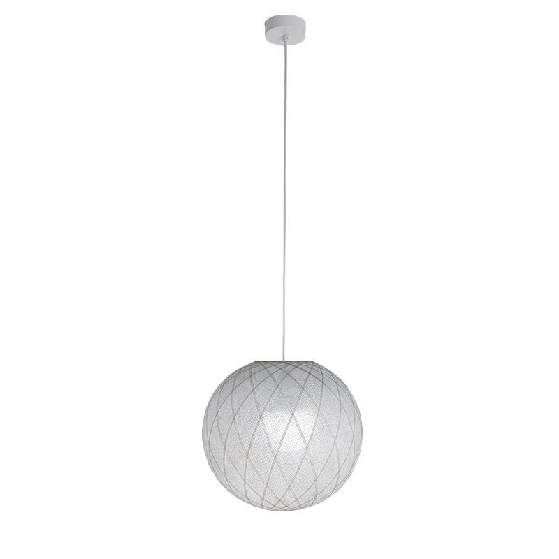 Suspension simple Art Déco blanc - Suspension simple - La Case de Cousin Paul