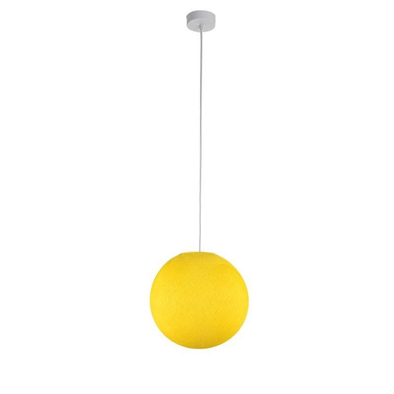 Einfache Aufhängung Kugel S gelb - Hängelampe einstrahlig - La Case de Cousin Paul