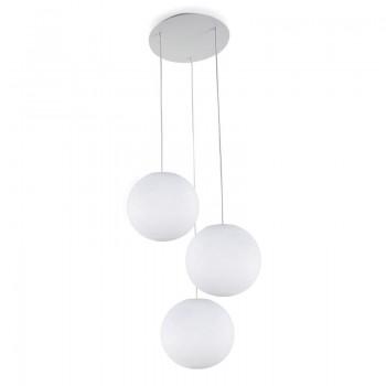 Pack plafonnier 3 globes S blanc éteint