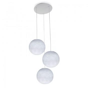 Plafonnier 3 blanc, globes S uni blanc - Plafonnier 3 - La Case de Cousin Paul