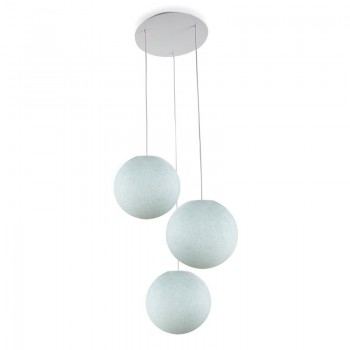 Plafondbevestiging 3 ballampen S azuurblauw - Plafondbevestiging 3 - La Case de Cousin Paul