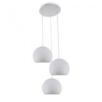 Lámpara de techo 3 cúpulas S blanco - Lámpara de techo 3 - La Case de Cousin Paul
